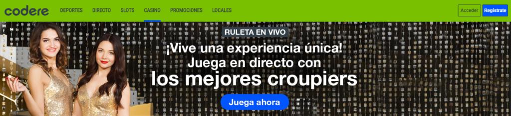 Diviértete en Codere Casino España y sus Ruletas Online
