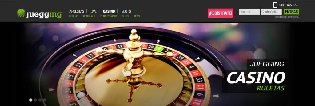 Entra en Juegging casino y prueba sus ruletas