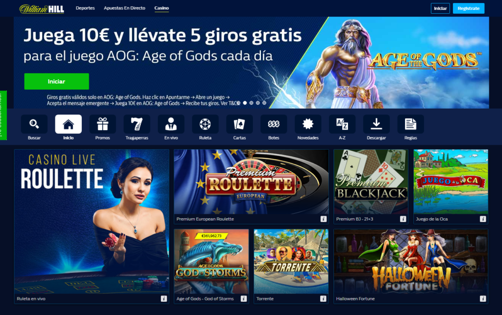Diviértete en William Hill Casino