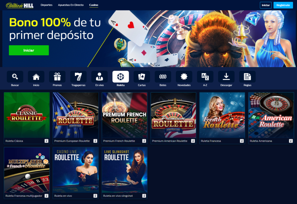 Juega en la ruleta de William Hill