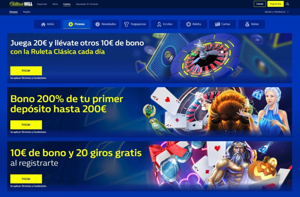 William Hill Casino bonos